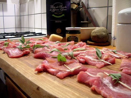 Saltimbocca alla romana – Kalfslapjes met salie enprosciutto
