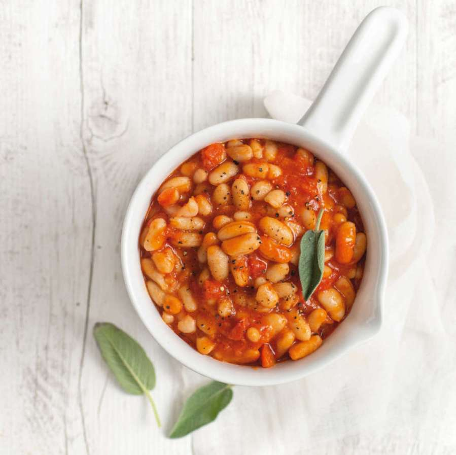Fagioli all'uccelletto – Witte bonen in tomatensaus